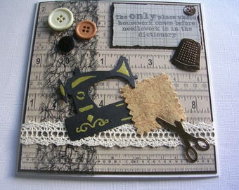 SEW CRAFTY  Greeting Card