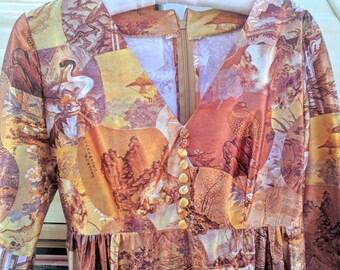Golden Vegas 70s Dress