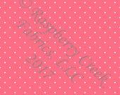 Salmon and White Pin Polka Dot 4 Way Stretch Jersey Knit Fabric, Club Fabrics PRE-ORDER