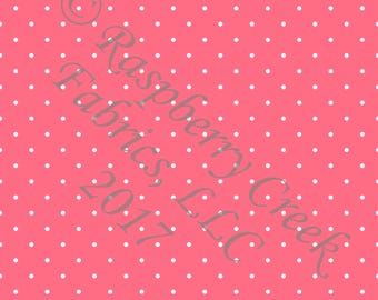 Salmon and White Pin Polka Dot 4 Way Stretch Jersey Knit Fabric, Club Fabrics PRE-ORDER