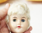 Vintage Plastic doll head with Sleepy eyes and Short Blonde Hair     -   G2