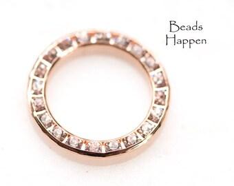 "13/16"" Swarovski Crystal Channel Set Ring, Rose Gold Plated Ring, Swarovski ring, Quantity 1"