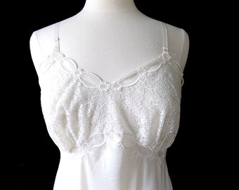 1950s Fantasy Lingerie The Image of Perfection White Slip Size 38