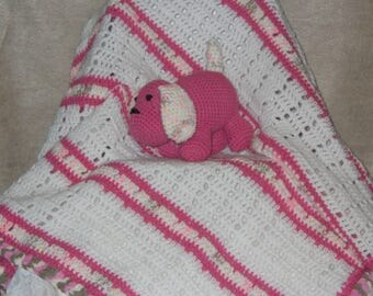 Baby Blanket with Puppy Rattle