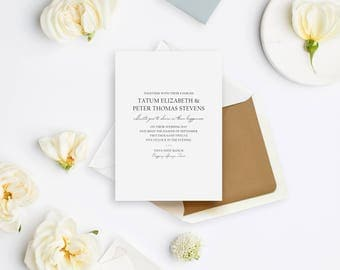 Wedding Invitation Sample - The Rustic Elegance Suite
