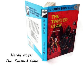 Hardy Boys Mystery Novel/ The Twisted Claw/ Number 18/ Hard Cover 1989