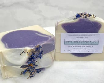BLACK RASPBERRY VANILLA Bar Soap.  Soap Bar.