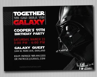 Darth Vader Party Invitation *Digital Download*