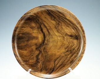 Walnut Wooden Platter from Oregon Black Walnut, K2794