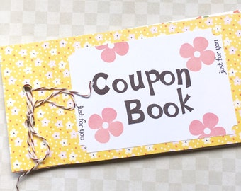 Blank Coupon Book - Love Coupon Book - Blank Tickets - Handstamped Gift - Anniversary Gift - Birthday Gift - For Him or For Her