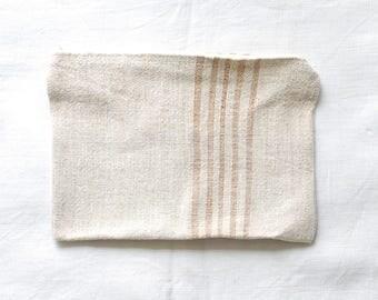 VINTAGE Grainsack Zippered Pouch - Natural Stripes