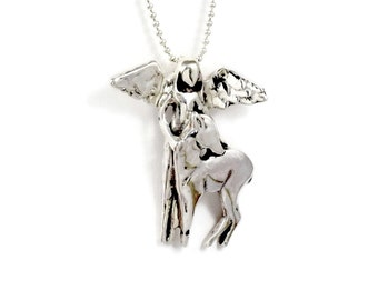Sterling Silver Jewelry Pendant - Angel Andi Loves Nature - Robin Wade Jewelry - Nature Angel Jewelry Pendant - Art Jewelry Pendant - 2230