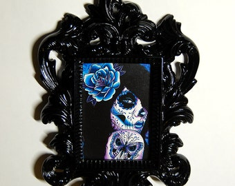 Framed ACEO Print - Hand Signed Art Print in Decorative Acrylic Frame - You Choose The Print