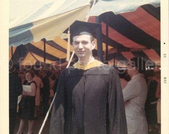Digital Download, The Graduate,  Vintage Photo, Color Photo, Kodak Photo, Snapshot, Graduation Day. Vernacular Photo, Found Photo, Printable