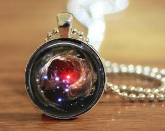 Space Pendant, Hubble Necklace, Universe Pendant, Nebula Pendant