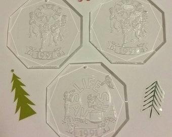 SALE Vintage 1991 Life Savers acrylic holiday ornaments