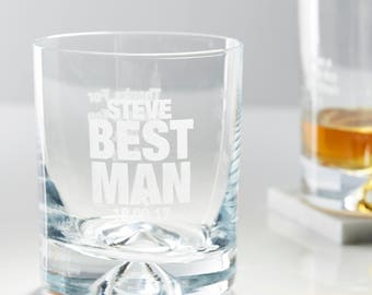 Personalised Best Man Whiskey Glass