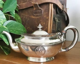 Antique 1910 Silver Plate Teapot from The Antlers Hotel Colorado Springs