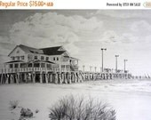 ON SALE Custom Pencil Drawing From Your Photo - 8x10 Original Personalized Home House Sketch Art From Picture