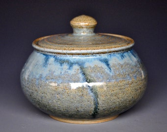 Ceramic Jar Small Pottery Stoneware Sugar Bowl A