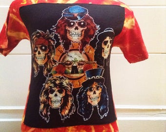 SALE Vintage Guns and Roses Tie Dye Tshirt
