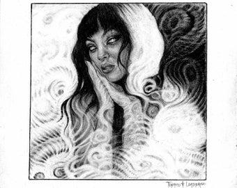 Light Sea Portrait /// Graphite Original Art