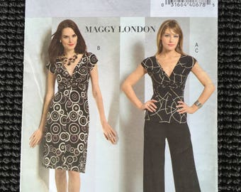 Easy Butterick 4789 Misses Top Dress Pants Sewing Pattern Maggy London Size 8-14 UNCUT