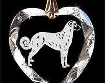 Anatolian, Shepherd dog Jewelry Custom Crystal Necklace Pendant, Suncatcher with any Animal or Name YOU Want, Gift, Dog Lover, Handler