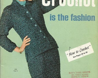 """Vintage Bear Brand and Fleisher Yarns 'Crochet is the Fashion"""" Book"""