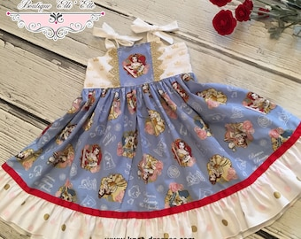 Girls Ella Dress Belle Beauty and the Beast Toddler Infant Girls