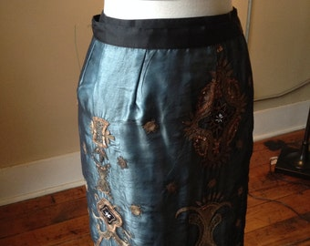 Sequined Bollywood Wrap Skirt, 1990s
