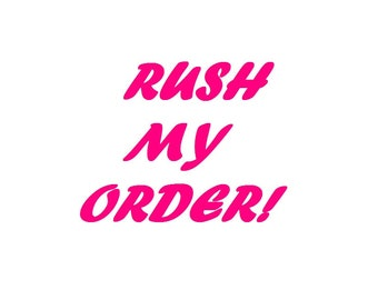 Rush my Order Please!!!!! Not for shipping, please only purchase if you have spoken to me first