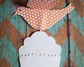 Paper Birds--Twelve Bird Cupcake Toppers