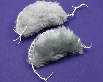 Faux Fur Cat Toys, Fake Fur Cat Toys, No Fur Catnip Mice, Furry Grey Mice, Catnip Mouse Toys, Cat Mouse Toys, Vegan Cat Toys (2 pack)