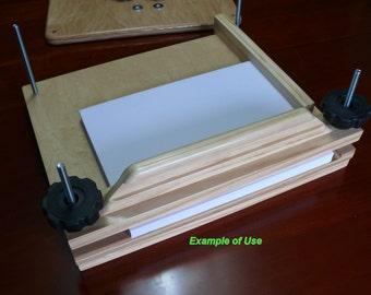 "12-1/2"" x 13"" Combination Book Press, Mapletop & Pine, Item 210-1"