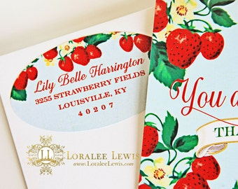 Berry Sweet Address Labels by Loralee Lewis