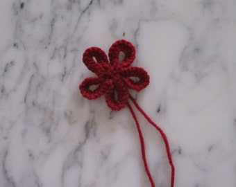 Knitted Flower, Burgundy