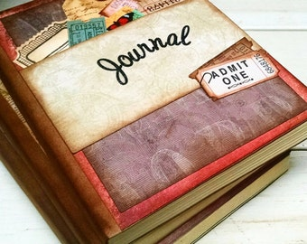 CUSTOM ORDER Daily Journal Smashbook Art Journal Keepsake Unlined Pages