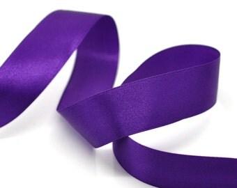 "SALE - 1 Roll - 25yds - 1"" - 25mm - 1 inch - Wide Purple Satin Ribbon - Weddings, Floral Arrangements, Favors, Decor!"