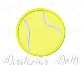 Tennis Ball Applique Machine Embroidery Design 3x3 4x4 5x7 court sports INSTANT DOWNLOAD