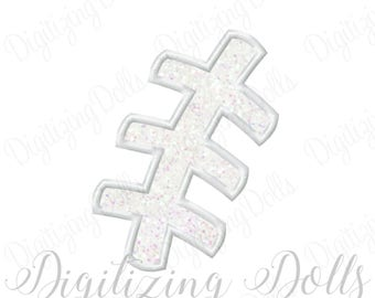 Football Laces Applique Machine Embroidery Design 3x3 4x4 5x7 6x10 INSTANT DOWNLOAD