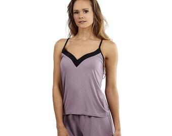25% OFF / Spring Sale Azazelo mauve Bamboo tap pants  - mauve shorts - mauve pajama - eco lingerie