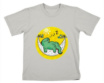 DiNOSNORE - Childrens - Dinosaur - Stone - T-shirt / Tee by Oliver Lake - iOTA iLLUSTRATION