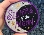 Sisters of the Moon Embroidered Felt Patch
