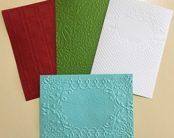EMBOSSED CARDSTOCK 5 x 7 inches 4 pack Mixed Backgrounds 1