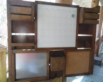 Command Center--Kitchen decor--FarmHouse--Magnetic Calendar--Mail organizer