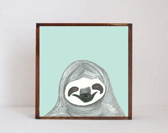 jungle nursery print, sloth nursery art- safari nursery art- safari nursery prints, gender neutral baby decor, jungle art- redtilestudio