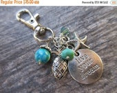 SPRING SALE Live Your Dream Clip-On Purse Charm Tibetan Silver beach charms large silver one lobster clasp--tote charm, Key fob, bag charm,