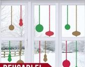 50% OFF SALE REUSABLE - Window Cling - Christmas Ornaments - Christmas Decorations - Christmas Decor - Christmas Wall Decor - Christmas Wall