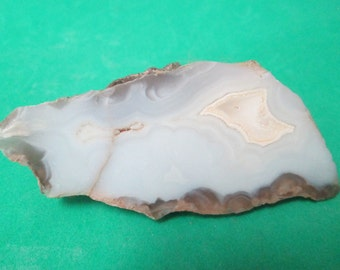 Small Blue Thunder Egg Geode Part 3 x 1-1/4 Inch x 1 inch thick